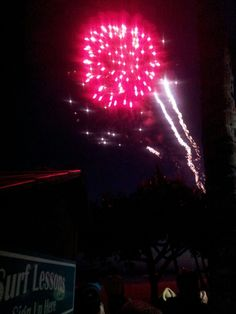 Fireworks at the resort