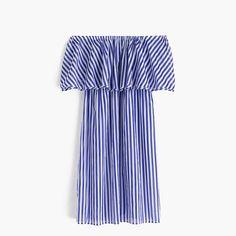 J.Crew Womens Off-The-Shoulder Bold Striped Dress (Size XL)