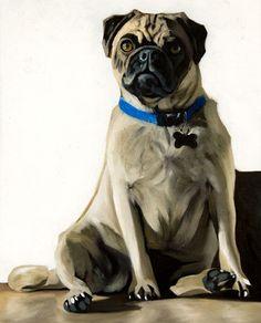Sun Pug - Oil painting by Lauren Pretorius http://cgi.ebay.com/ws/eBayISAPI.dll?ViewItem&item=161119904074
