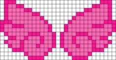 Pink Angel Wings Perler Bead Pattern / Bead Sprite