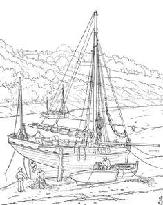 Le port du Légué St Brieuc, le temps des lougres est fini, les pêcheurs arment au chalut à perche des sloups et des sloups à tapecul, certains sont motorisés