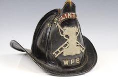 C Fireman / Chief Leather Helmet w/Brass Eagle - Apr 2018 Firefighter Paramedic, Fire Helmet, Fire Apparatus, Firefighters, Buckets, Headgear, Fire Trucks, Riding Helmets, Eagle