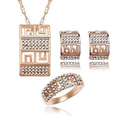 """Mondaynoon"""" Fairy Tale of Love"""" Swarovski Elements Women's Jewelry Set, Australia Imported Necklace, Bracelets, Earrings Ensemble    16 customer reviews $19.99 + $5.99 shipping List price: $200.00 (Save $180.01) Metal Type: yellow-gold   yellow-gold     gold-plated-base     rose-gold-plated-base   yellow-gold-flashed-silver In Stock. Ships from and sold by Mondaynoon."""