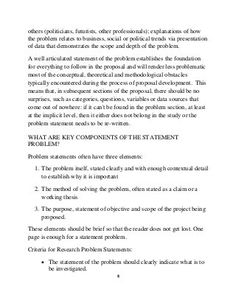 How to write a statement problem Writing A Thesis Statement, Problem Statement, Politics