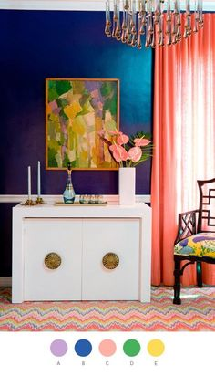 add some color #living room