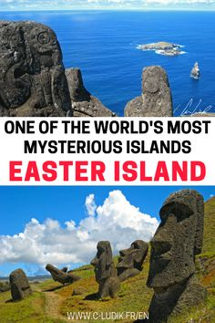 Have you always dreamed of planning a trip to Easter island, but you don't know where to start planning your trip? We have you covered. Check out this Easter Island planning guide including the Easter island history, where to see the Moaïs of Easter Island, scenic hikes on Easter Island and more. Click on the pin to check out our Easter Island guide. Don't forget to save this guide to finding the rock statues of Easter Island to your travel board so you can find it later. #easterisland…