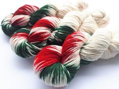Hand painted Premium high twist sock yarn hand dyed: Guess