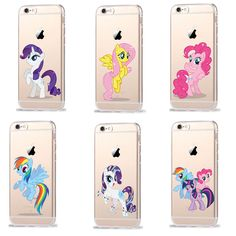 Cartoon My Little Pony Silicone TPU Transparent Cover Case For iPhone 7 7 Plus 6 6S Plus 5 5S SE Case Coque Rainbow hippo Fundas