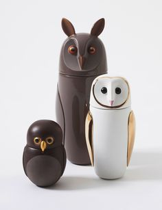 Owl Vessels Designed by Manolo Bossi Handmade in Italy by Bosa Ceramiche Available at Camerich Los Angeles