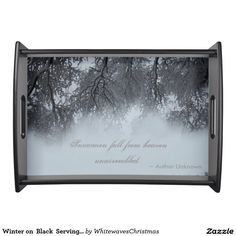 Winter on  Black  Serving Tray