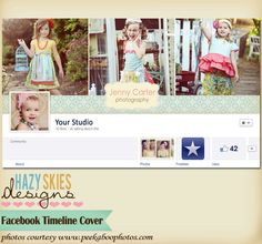 FACEBOOK TIMELINE BANNER - simple paper - by hazy skies designs Timeline Cover Photos, Facebook Timeline Covers, Studio 42, Facebook Quotes, Facebook Banner, Sky Design, Font Names, Cover Template, Business Pages