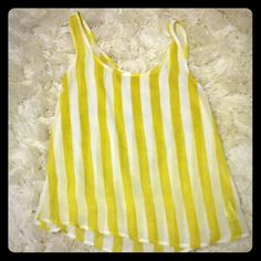 Sheer Stripe Tank I have a cute tank from forever 21. It's very sheer with white and chartreuse stripes Forever 21 Tops Tank Tops