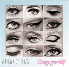 #FicaDica: Make Delineadores para você arrasar na sua maquiagem ;D  #Delineador #Make #tendência #fashion #Moda