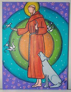 São Francisco de Assis III - Pintura (Acrílica) - Juliano Silva