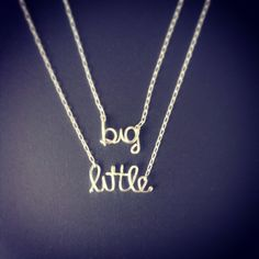 Big and Little Sorority necklaces by wiredforfreedom on Etsy