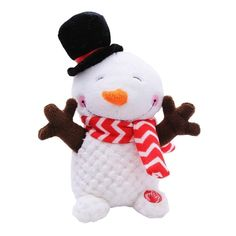 #Walmart Mexico - #Walmart Mexico Peluche navideño animado holiday time muñeco de nieve 32 x 21.5 x 13 cm - AdoreWe.com