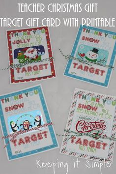Teacher Christmas Gift idea- Target gift card with printable #PickYourPlum #bakerstwine