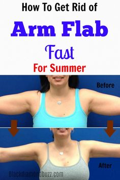 You can  get rid of my arm flab and bingo wings or bat wings in just 3 months and using only 5 pound weights! It only takes 15 minutes, 4 times a week to get toned arms and triceps. You can do it!