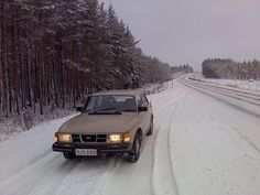 Saab 99 in Finnish winter
