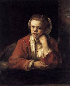 All of Rembrandt's Paintings | enlarge painting painting name girl at a window 1651 painting size ...
