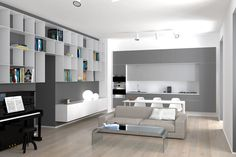 THE INTERIOR ISLAND. Mariella's Flat Designed By PERALTA - Picture gallery