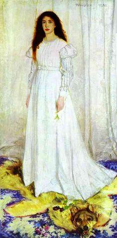 whistler the girl in white   Back to James Whistler paintings