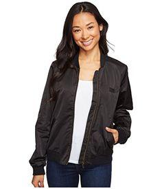 Volcom Women's in My Lane Bomber Jacket, Black, Casual Jackets, Bomber Jacket, Leather Jacket, Womens Fashion, Black, Studded Leather Jacket, Leather Jackets, Black People, Women's Fashion