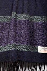 Luxury Celtic knot border Scottish scarf by Calzeat of Scotland