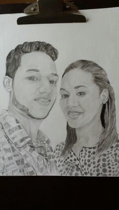 Coteyo.  Dr Wilton gracia and his wife.     Draw to pencil.  Tirando el arte