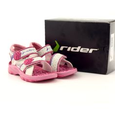 Pink sandals children's shoes for water Rider 80608 shades of pink Swimming Sport, Pink Sandals, Comfortable Heels, Childrens Shoes, Blue Accents, Velcro Straps, Sports Shoes, Two By Two, Baby Shoes