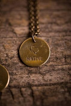 Texas Native State Necklace - It's more than being from a place; it's being a part of a place.