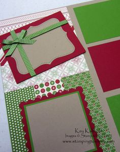 Stamping to Share: 10/5 12x12 Stampin' Up! Be of Good Cheer Scrapbook Pages for October