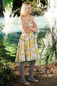 Hart of Dixie's Fashion Credits Season 1, Episode 16 Lemon Breeland (Jaime King) wears a Crop by David Peck dress, J. Crew tights, Christian Louboutin shoes and J. Crew necklace.