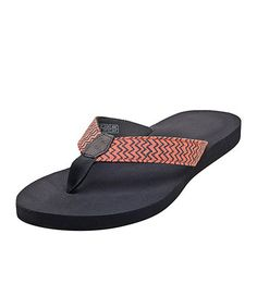 Look what I found on #zulily! Coral & Gray Zigzag Sandal - Women #zulilyfinds