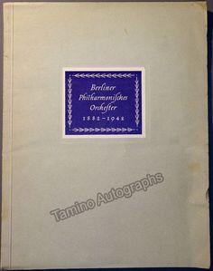 Furtwangler, Wilhelm - Berlin Philharmonic Brochure & Tour Program 1942
