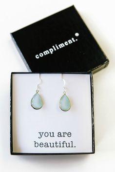 d366086c961b Bliss Earrings in teal aqua.  17. Jewel Tones