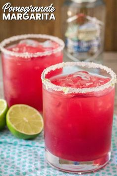 A refreshing Pomegranate Margarita is the best way to start your weekend! Make one cocktail or make a pitcher to share with friends, then sit back & relax! Pomegranate Cocktails, Pomegranate Recipes, Pomegranate Margarita Recipe Pitcher, Jalapeno Margarita, Margarita Recipes, Margarita Tequila, Tequila Punch, Margarita Chicken, Pina Colada