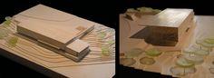 PARQUE TECNOLÓGICO, UNIA.  Ignacio de la Peña  DIMENSIONES: 27 x 37 cm   ESCALA: 1/500   MATERIALES: Invercote, cartomat 1mm, policarbonato.