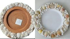 Pottery Barn Knock-off: Shell Chargers for Summer Dining
