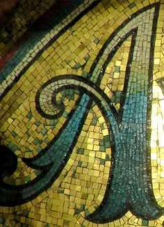 Mosaic Letter A by ◄Kentigern►, via Flickr