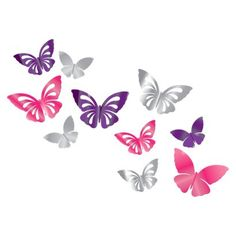 3D Butterflies with Color Mirror - Sofia the First and Disney Princess Room