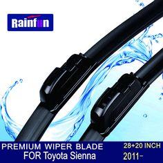 "RAINFUN U-hook Size:28""+20""Fit For Toyota Sienna(2011 onwards)High Quality Windscreen Wipers Escobillas limpiaparabrisas"