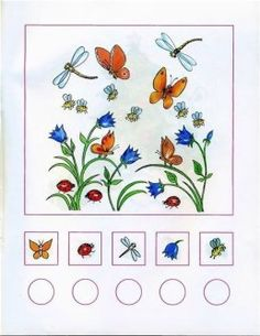 JIRlmnLaLCw Spring Activities, Learning Activities, Kids Learning, Learning Numbers, Math Numbers, Math Gs, Insects For Kids, Activities For Autistic Children, Insect Crafts