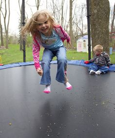 Trampoline!- They can't wait for the net!