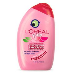 L'Oreal Kids Strawberry Smoothie Shampoo for Extra Softness by L'Oreal Paris. Tear-free hair care moisturizes & conditions dry hair while preventing split ends. Strawberry Shampoo, Strawberry Smoothie, Strawberry Lemonade, Hair Shampoo, Shampoo And Conditioner, Crochet Micro Braids, Crochet Hair, My Childhood Memories, Little Girls