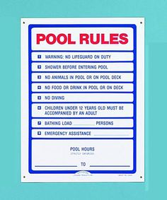 1000 Images About Swimming Pool Rules Signages On Pinterest Pool Rules Sign Pool Rules And