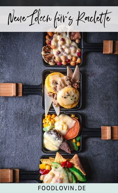 Creative ideas for your next raclette! With tortilla chips, polenta thalers, chickpeas and sweet potatoes Creative ideas for your next raclette! With tortilla chips, polenta thalers, chickpeas and sweet potatoes