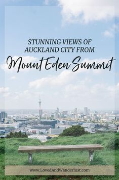 Standing tall at is Auckland's highest volcanic cone, Mount Eden. It is the highest natural spot of the city, offering a view of the city! Mount Eden, New Zealand Travel, Travel Information, Stunning View, Auckland, Australia Travel, Adventure Travel, Travel Inspiration, Places To Visit