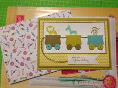 Stampin Up Kindergeburtstag, Kinderkarte, Zoo Babies, Kids Card
