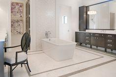 "Bathroom tub in Divco Custom Homes ""Antigua"" model in Miromar Lakes. Divco Homes | Naples, FL | Divcohomes.com"